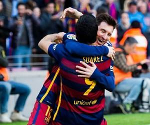 Barcelona, messi, and suarez image