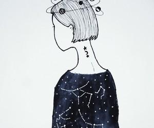 art, constellations, and doodle image