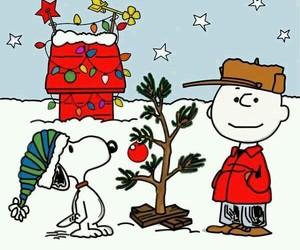 christmas, snoopy, and charlie brown image