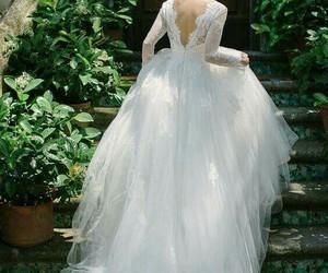 fashion, wedding dress, and beauty image