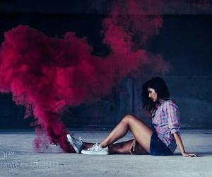 photography, smoke, and red image