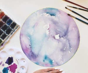aesthetic, color, and watercolor image