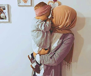 baby, girl, and hijab image