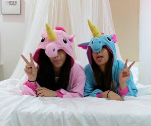 unicorn, friends, and bff image