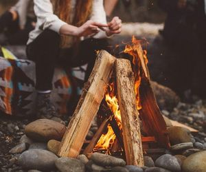 adventure, fire, and travel image