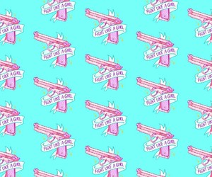 wallpaper, girl, and pink image