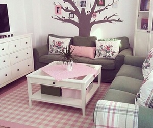 pink, cute, and sofa image