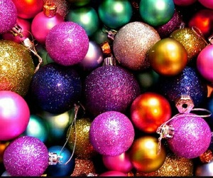 christmas, glitter, and colorful image