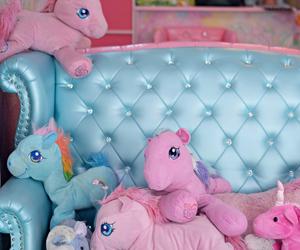 Bleu, doudou, and my little pony image