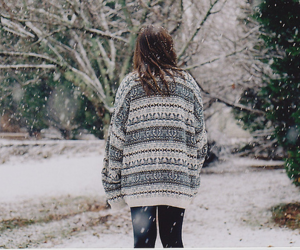 girl, holiday, and winter image