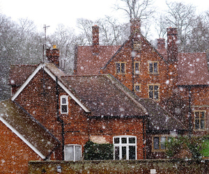 holiday, snow, and house image