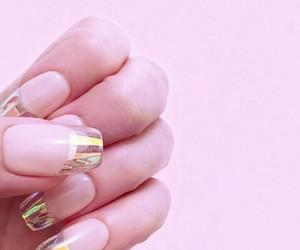 nails, opal, and pink image