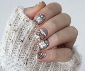 nails, winter, and christmas image