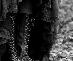 boots, gothic, and autumn image