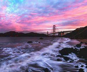 sky, sunset, and sea image