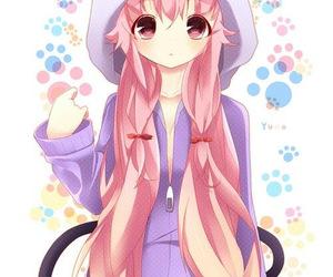 anime, mirai nikki, and kawaii image