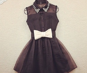 black, bow, and dress image