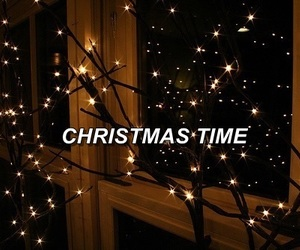 black, christmas, and lights image