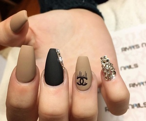 black, channel, and nails image