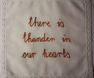 quotes, thunder, and hearts image