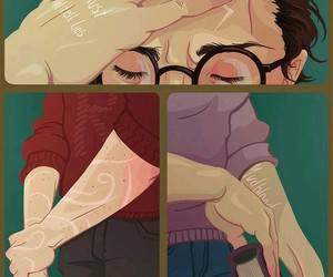 harry potter, hermione granger, and scars image