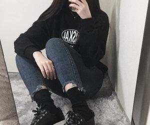 ulzzang, clothes, and kfashion image