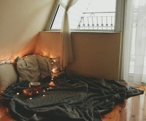 bedroom, comfy, and fall image