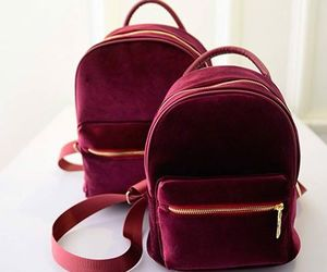 backpack, bag, and red image