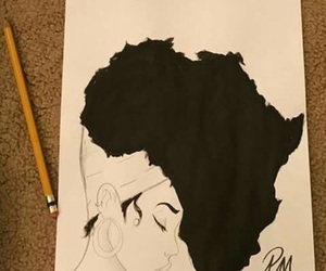 africa, Afro, and art image
