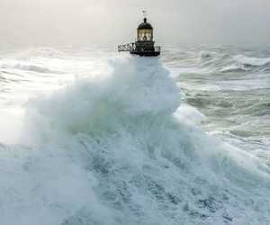water and lighthouses image