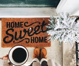 coffee, home, and doormat image