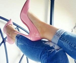girly, heels, and louboutin image