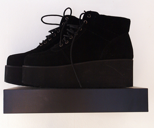 black, creepers, and shoes image
