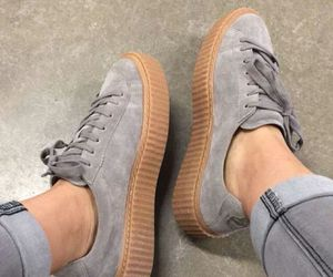 shoes, puma, and grey image