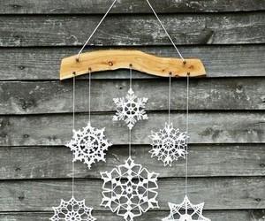 winter, snowflakes, and christmas image