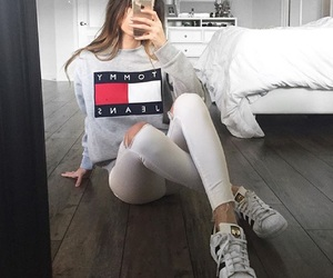 girl, fashion, and tommy hilfiger image