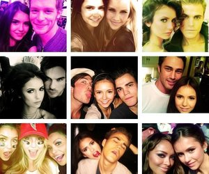 tvd, ian somerhalder, and Nina Dobrev image