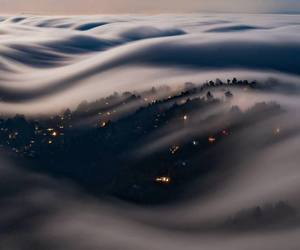 fog amazing moonlight image