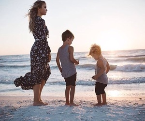 family, kids, and mother image
