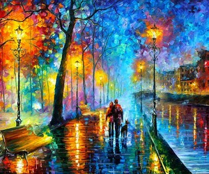 beautiful, colorful, and postimpressionism image