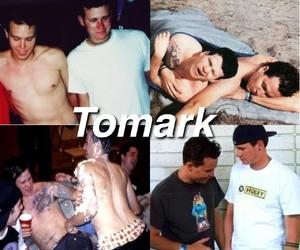 blink-182, tom delonge, and travis barker image