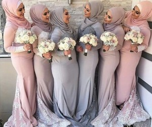 bridesmaid, muslim, and wedding image