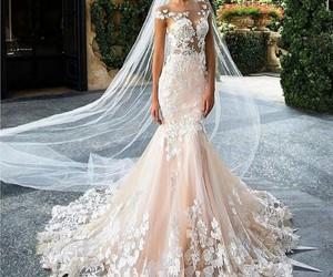 fashion, wedding dress, and girl image