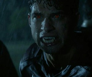 alpha, red eyes, and teen wolf image
