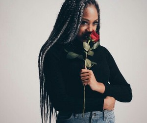 braids, flowers, and melanin image