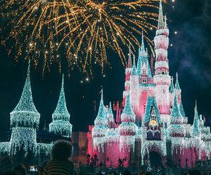 disney, fireworks, and light image
