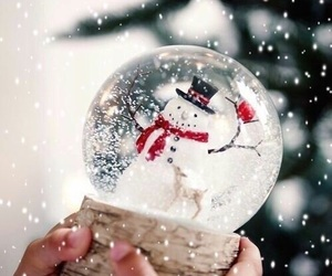 christmas, winter, and snowman image