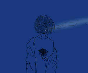 art, boy, and blue image