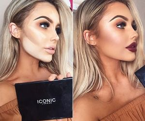 beautiful, big lips, and blonde image