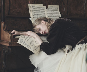 piano and girl image